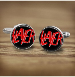 Slayer Band Logo #2 Cuff Links Men, Weddings