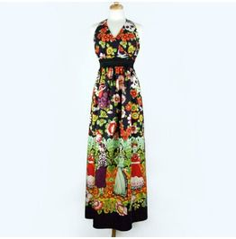 Plus Size 2 Xl / 3 Xl Mexican Print Maxi Dress / Frida Kahlo Day Dead Long Dress