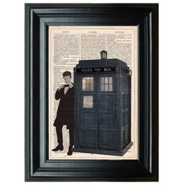 Doctor Art Print, Matt Smith Poster, Tardis Poster, Doctor Print, Dr. Tardis, Tardis Poster, Police Box