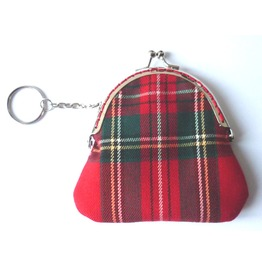 Little Red Tartan Purse Scottish Punk Plaid Trendy Fashion Gothic Green