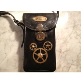 """I Gearz Steampunk """"Adventure Case"""" Small Size Antique Leather Cell Phone Carry Case P 399"""