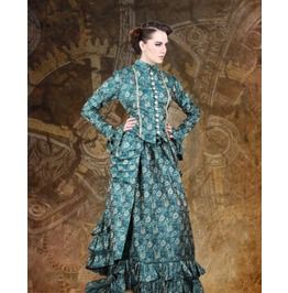 Steampunk Neo Victorian Gothic Hon. Elvira 2 Pc Ensemble Dress S1030