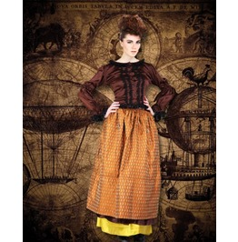 Steampunk Neo Victorian Gothic Honoria Screeny 2 Pc Ensemble Dress S1033