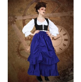 Steampunk Neo Victorian Gothic Constable Torpy 3 Pc Ensemble Dress S1037