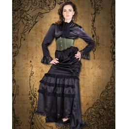Steampunk Neo Victorian Gothic Cuskely 3 Pc Ensemble Dress S1025
