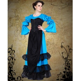 Steampunk Neo Victorian Gothic Evars Landy 4 Pc Ensemble Dress S1032