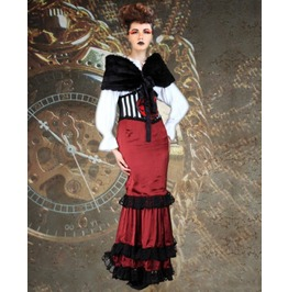 Steampunk Neo Victorian Gothic Miss Broderick 4 Pc Ensemble S1035