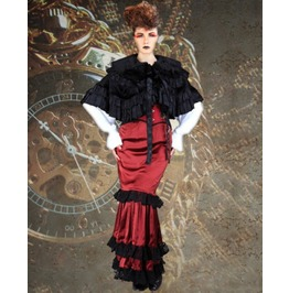 Steampunk Neo Victorian Gothic Grace Metford 4 Pc Ensemble Dress S1036