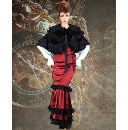 Steampunk Neo Victorian Gothic Grace Metford 4 Pc Ensemble Dress S1036