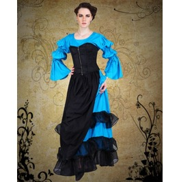 Steampunk Neo Victorian Gothic Womens Costume Evars Landy Blouse Top C1231