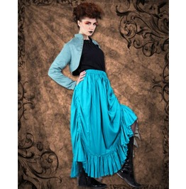 Steampunk Neo Victorian Gothic Feany Gantley Full Length Ruffle Skirt C1224