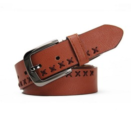 Brown Braided Leather Belt P11