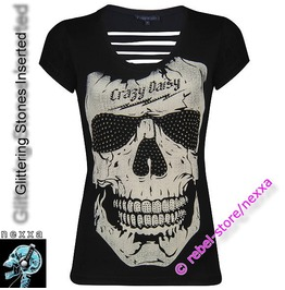 Skull, Skeleton, Tattoo, Punk, Gothic,T Shirt,Tee,Tshirt #Kb 5208 B