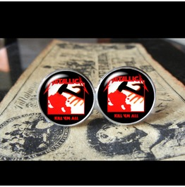 Metallica Kill Em Album Cover Cuff Links Men, Weddings,Grooms, Groomsmen,Gifts,Dads,Graduations