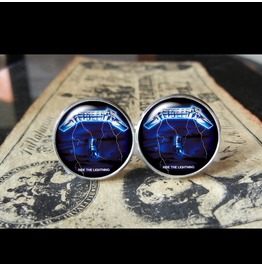 Metallica Ride Lightning Album Cover Cuff Links Men, Weddings,Grooms, Groomsmen,Gifts,Dads,Graduations