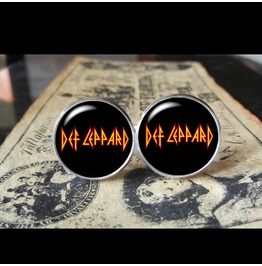 Def Leppard Band Logo (Black) Cuff Links Men, Weddings,Grooms, Groomsmen,Gifts,Dads,Graduations