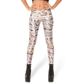 Graffiti Print Tight Leggings