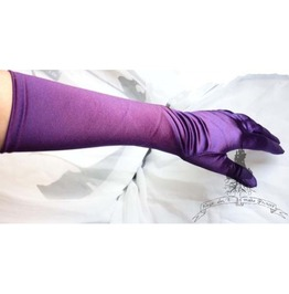 Purple Gloves Victorian Gothic Wedding Gown