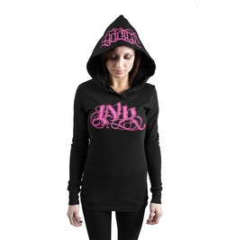 Ink Meas Thermal Hoodie Black/Pink