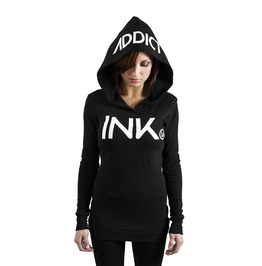 Ink Thermal Hoodie Black/White
