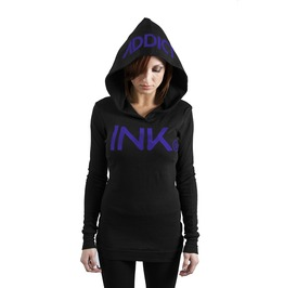 Ink Thermal Hoodie Black/Purple