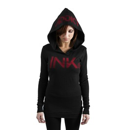Ink Thermal Hoodie Black/Red