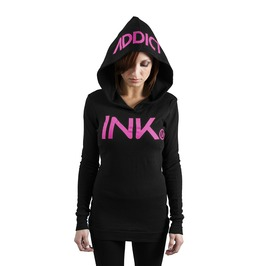 Ink Thermal Hoodie Black/Pink