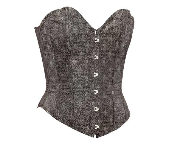 brown_brocade_fabric_steel_boning_corset_waist_cincher_bustier_bustiers_and_corsets_4.jpg