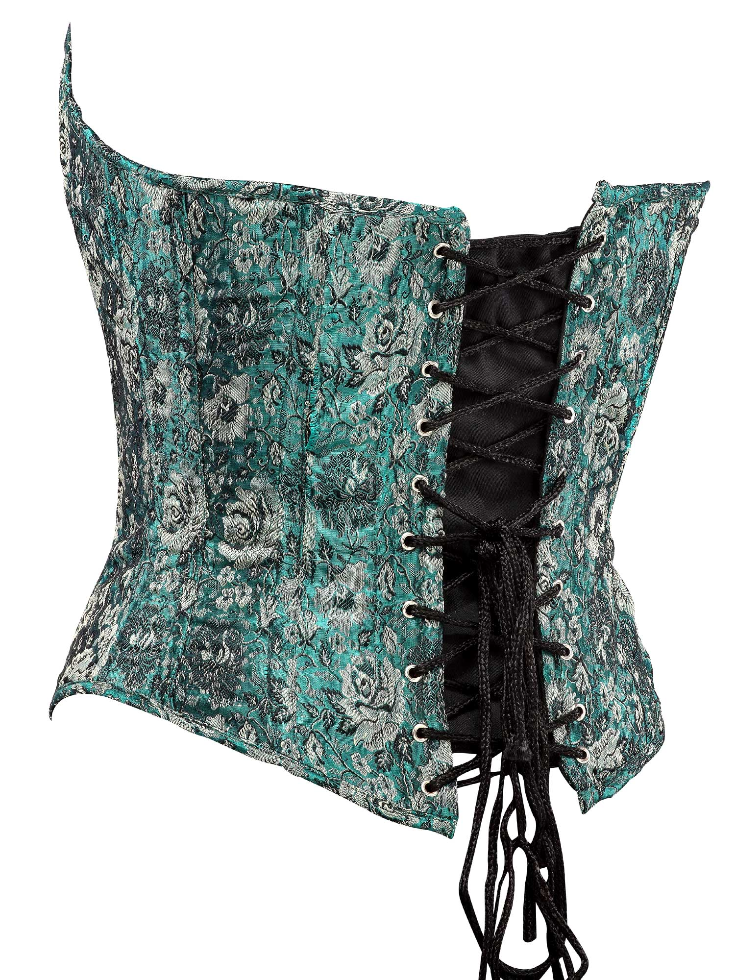 green_floral_jacquard_fabric_steel_boning_corset_waist_cincher_bustier_bustiers_and_corsets_3.jpg
