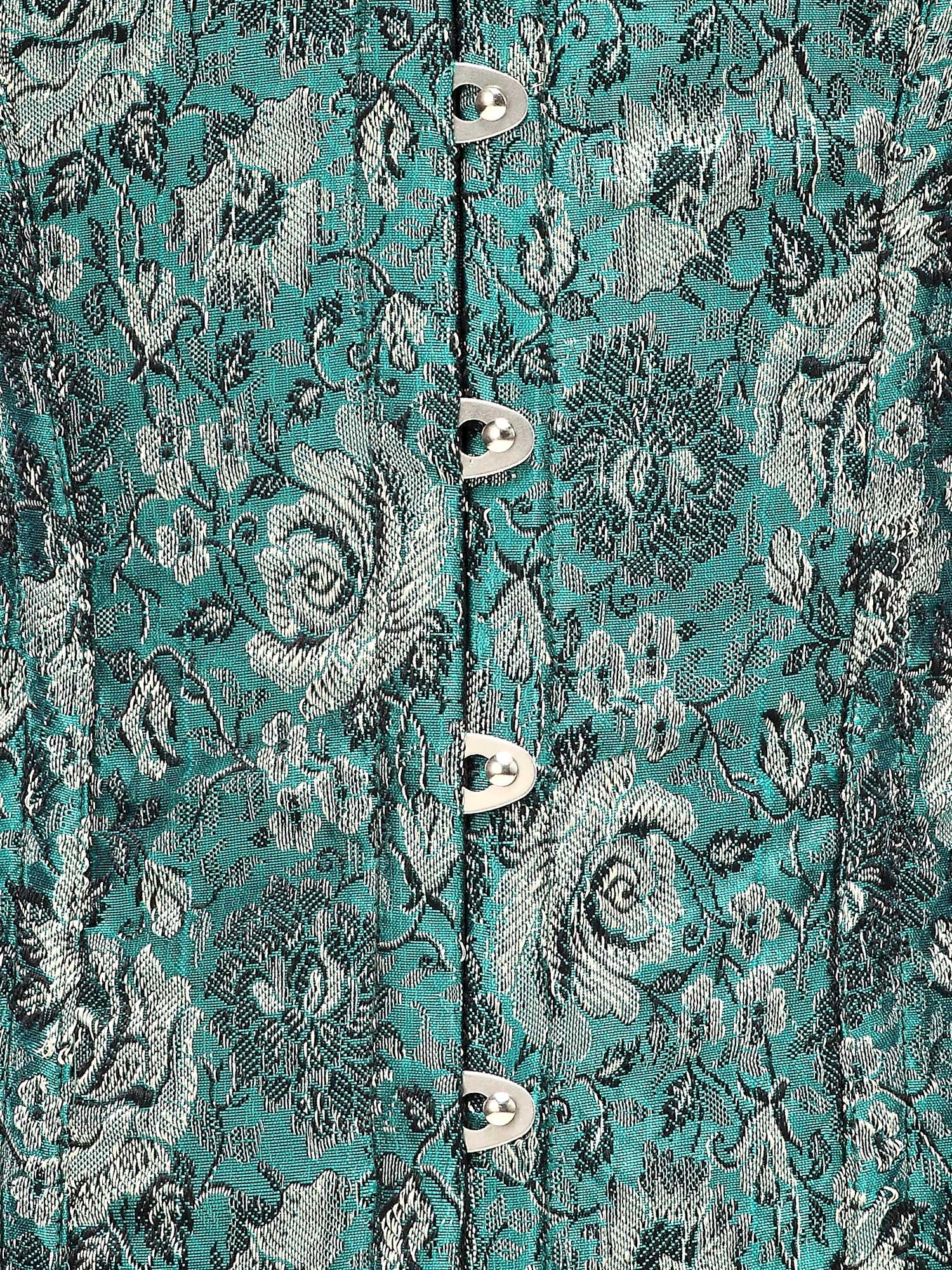 green_floral_jacquard_fabric_steel_boning_corset_waist_cincher_bustier_bustiers_and_corsets_2.jpg