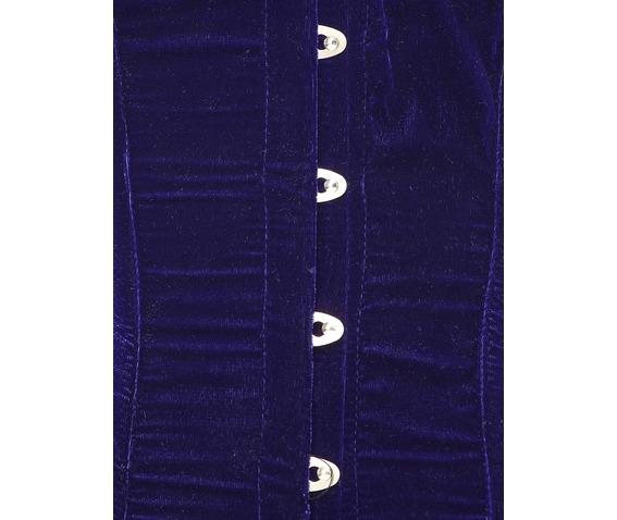 blue_velvet_fabric_steel_boning_corset_waist_cincher_bustier_bustiers_and_corsets_2.jpg