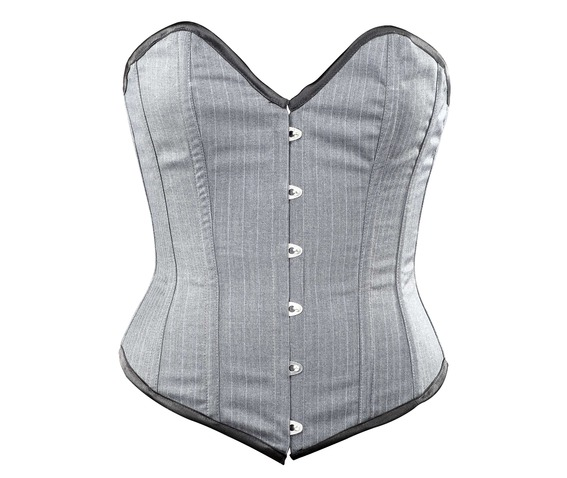 grey_striped_corporate_steel_boning_overbust_corset_waist_cincher_bustier_bustiers_and_corsets_5.jpg