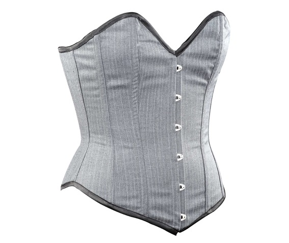 grey_striped_corporate_steel_boning_overbust_corset_waist_cincher_bustier_bustiers_and_corsets_4.jpg