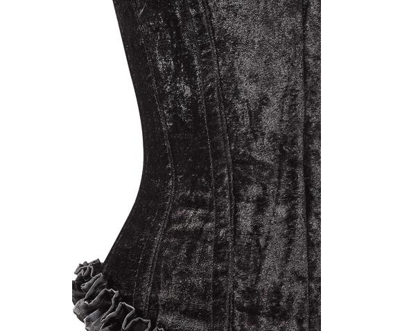 black_velvet_fabric_steel_boning_overbust_corset_waist_cincher_bustier_bustiers_and_corsets_2.jpg