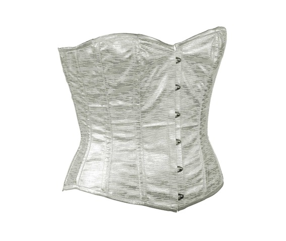silver_faux_leather_fabric_steel_boning_overbust_corset_waist_cincher_bustier_bustiers_and_corsets_4.jpg