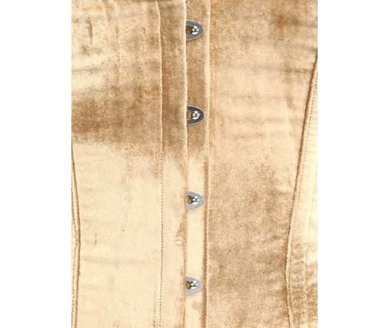 beige_velvet_fabric_steel_boning_overbust_corset_waist_cincher_bustier_bustiers_and_corsets_2.jpg