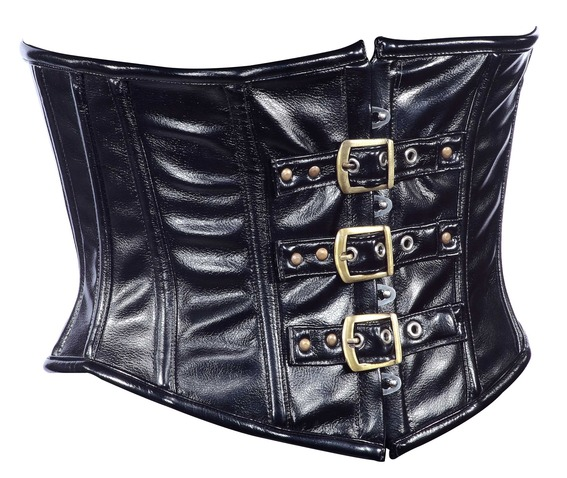 black_faux_leather_fabric_steel_boning_underbust_corset_waist_cincher_bustier_bustiers_and_corsets_4.jpg