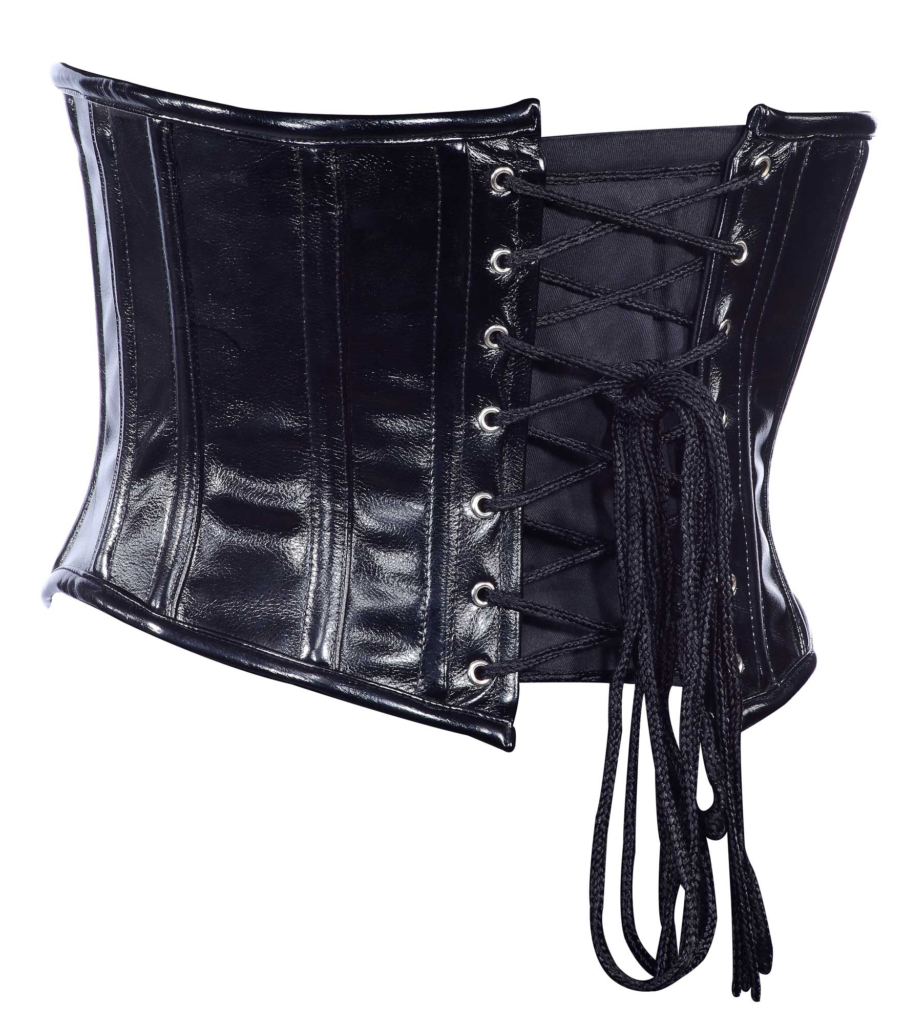 black_faux_leather_fabric_steel_boning_underbust_corset_waist_cincher_bustier_bustiers_and_corsets_3.jpg