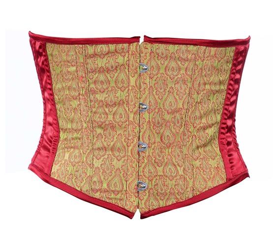 maroon_brocade_fabric_steel_boning_underbust_corset_waist_cincher_bustier_bustiers_and_corsets_5.jpg