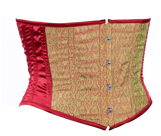 maroon_brocade_fabric_steel_boning_underbust_corset_waist_cincher_bustier_bustiers_and_corsets_4.jpg