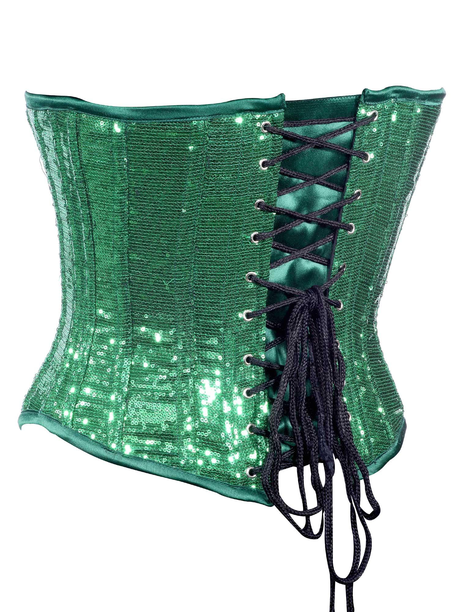 green_sequin_fabric_steel_boning_underbust_corset_waist_cincher_bustier_bustiers_and_corsets_3.jpg