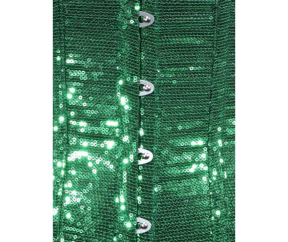 green_sequin_fabric_steel_boning_underbust_corset_waist_cincher_bustier_bustiers_and_corsets_2.jpg