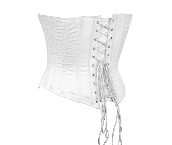 white_fabric_steel_boning_underbust_corset_waist_cincher_bustier_bustiers_and_corsets_3.jpg