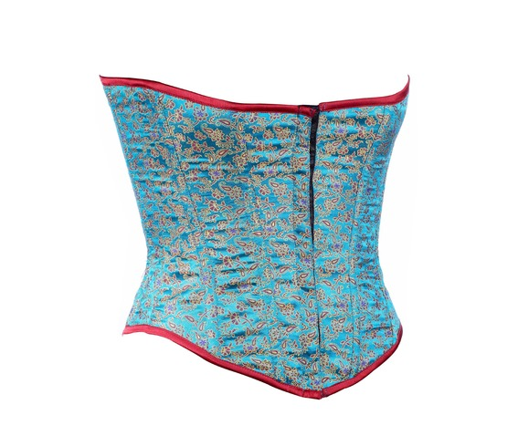 aqua_color_brocade_fabric_steel_boning_underbust_corset_waist_cincher_bustier_bustiers_and_corsets_4.jpg