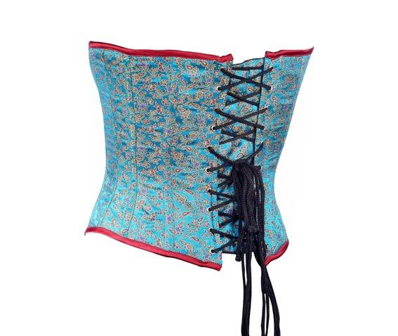 aqua_color_brocade_fabric_steel_boning_underbust_corset_waist_cincher_bustier_bustiers_and_corsets_3.jpg