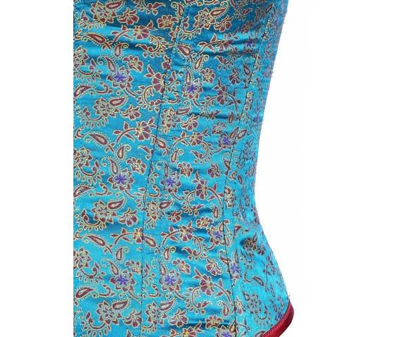aqua_color_brocade_fabric_steel_boning_underbust_corset_waist_cincher_bustier_bustiers_and_corsets_2.jpg