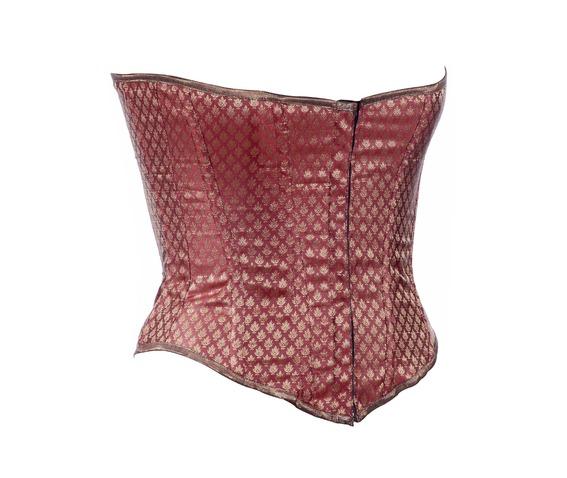 maroon_ethnic_brocade_fabric_steel_boning_underbust_corset_waist_cincher_bustier_bustiers_and_corsets_4.jpg