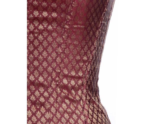 maroon_ethnic_brocade_fabric_steel_boning_underbust_corset_waist_cincher_bustier_bustiers_and_corsets_2.jpg