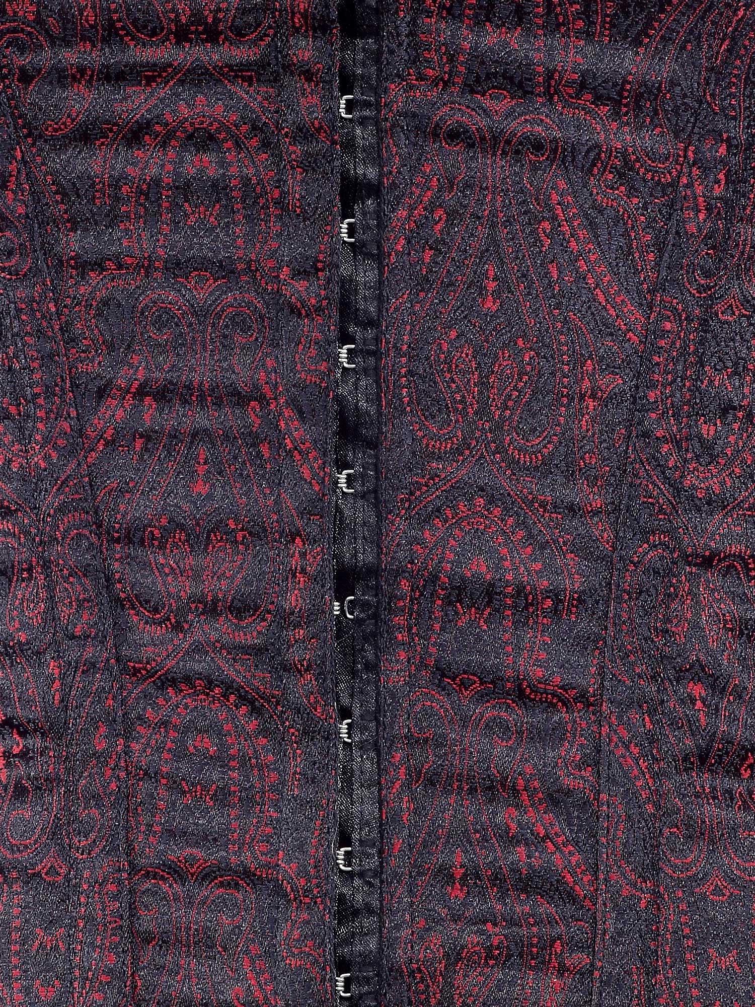brown_jacquard_fabric_steel_boning_underbust_corset_waist_cincher_bustier_bustiers_and_corsets_2.jpg