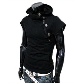 Black Short Sleeve Shirt T Shirt Tee Men Sport Mens Hoodies